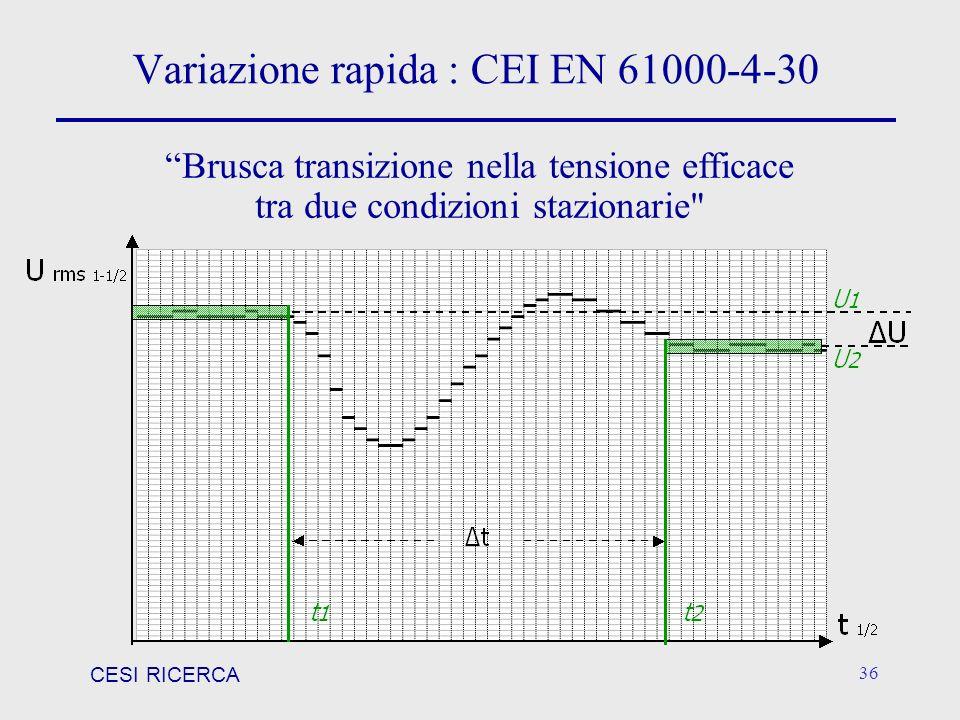 Variazione rapida : CEI EN 61000-4-30