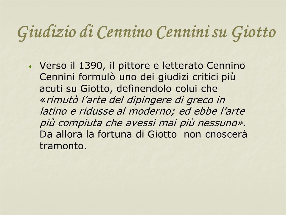 Giudizio di Cennino Cennini su Giotto