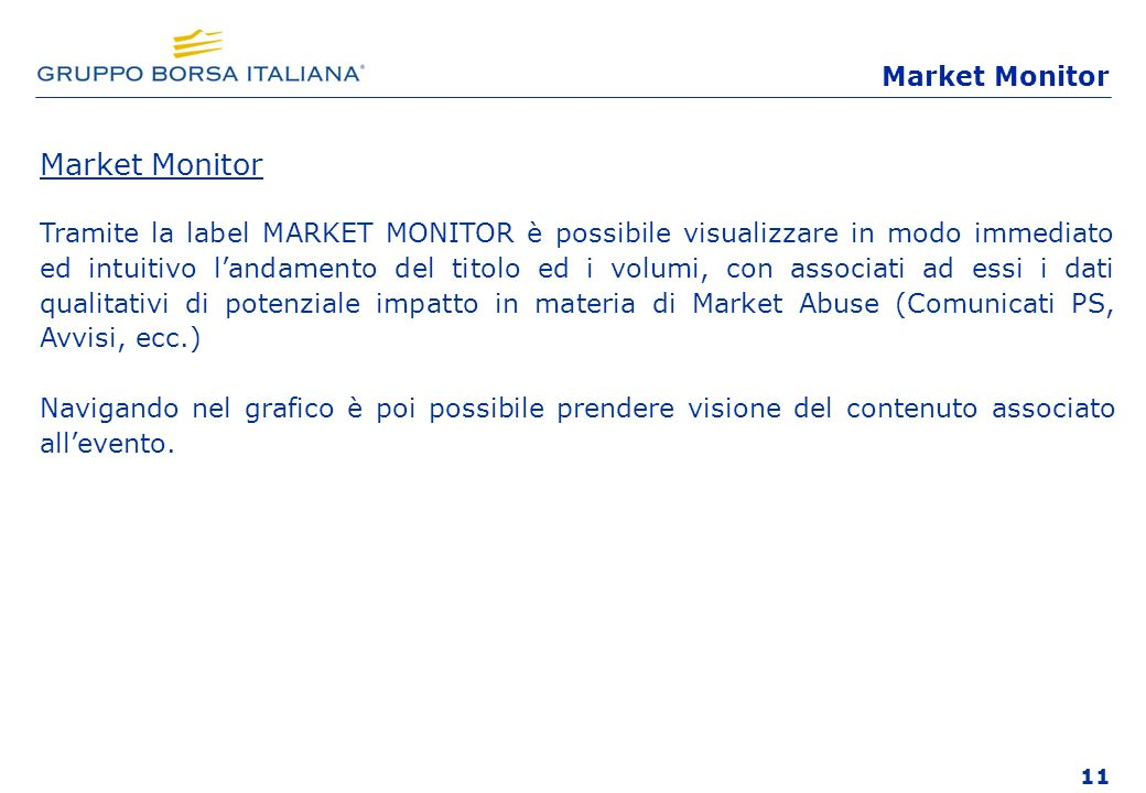 Market Monitor Market Monitor