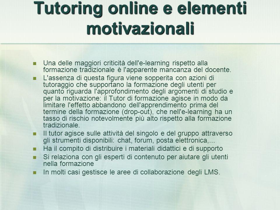 Tutoring online e elementi motivazionali