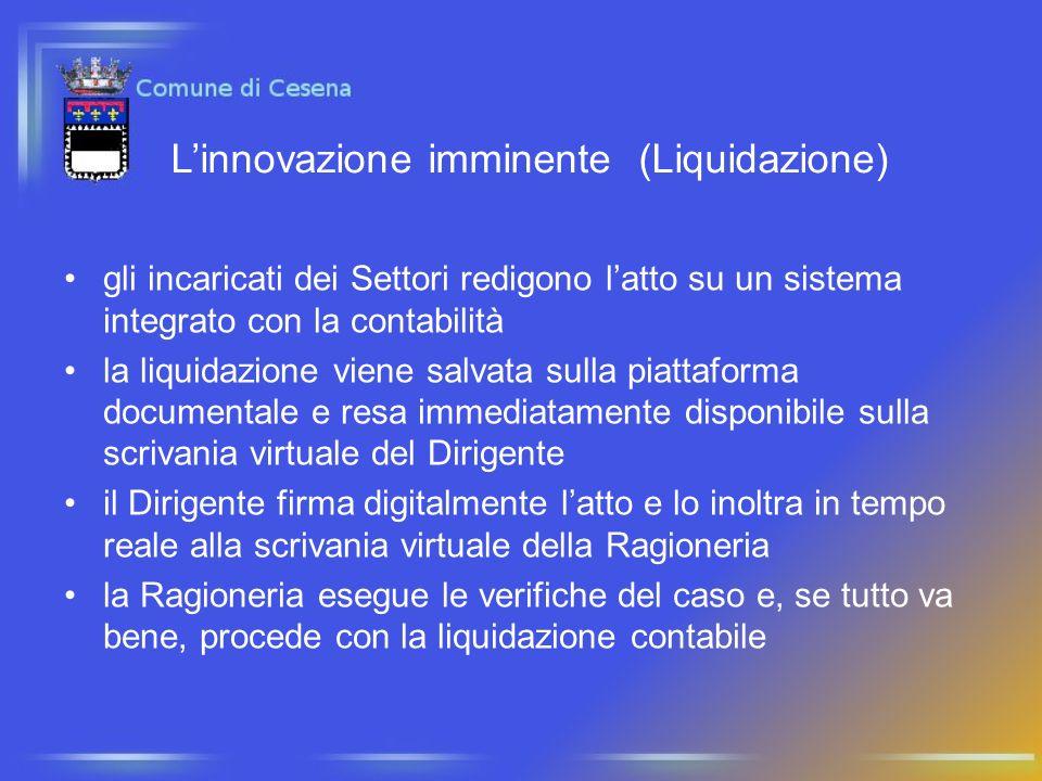 L'innovazione imminente (Liquidazione)