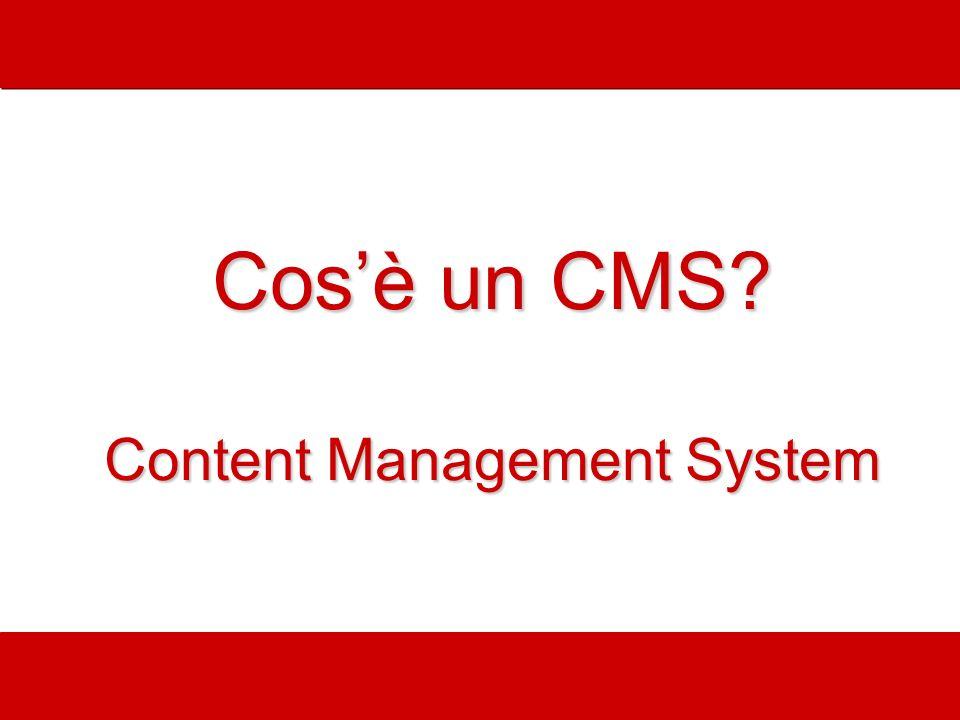 Cos'è un CMS Content Management System