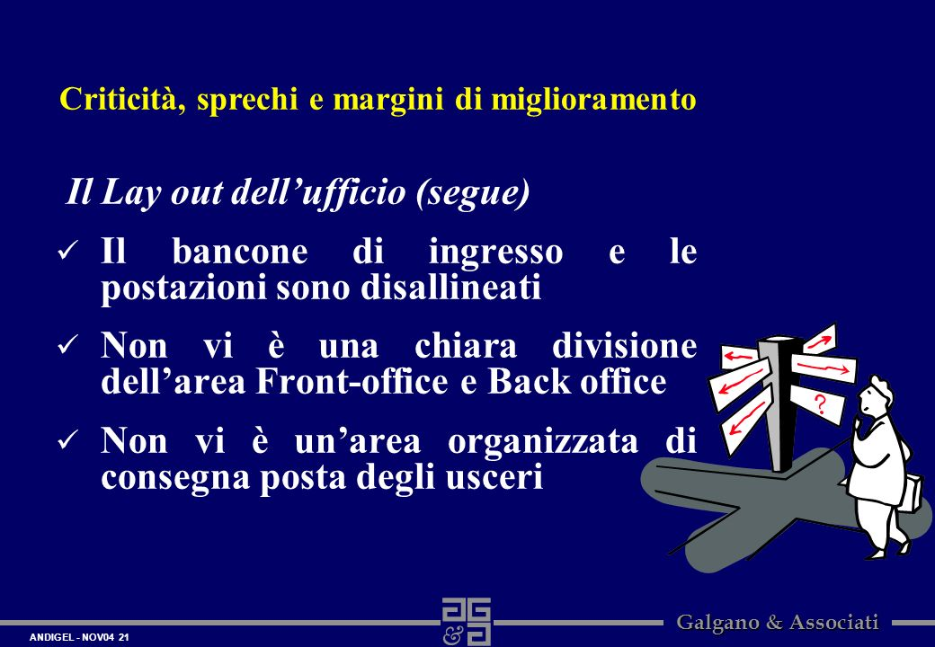 Il Lay out dell'ufficio (segue)