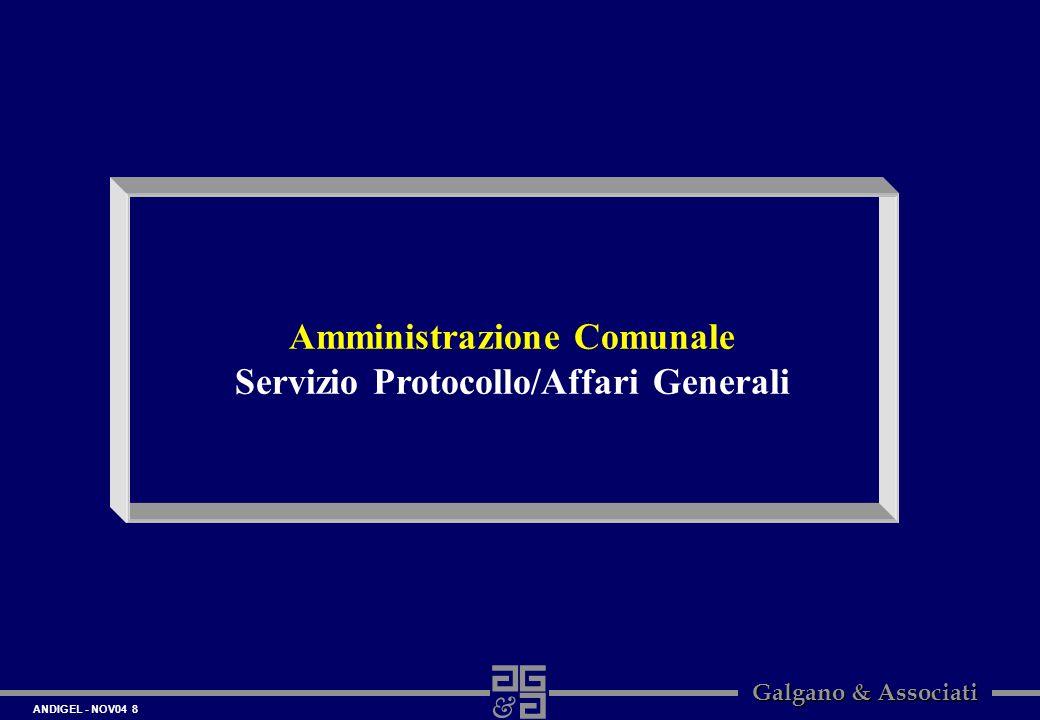 Amministrazione Comunale Servizio Protocollo/Affari Generali