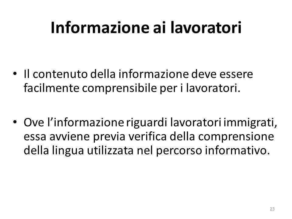 Informazione ai lavoratori