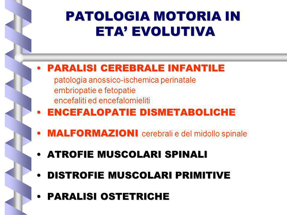 PATOLOGIA MOTORIA IN ETA' EVOLUTIVA