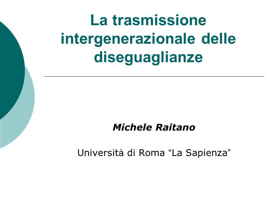 La trasmissione intergenerazionale delle diseguaglianze