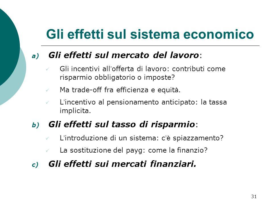 Gli effetti sul sistema economico