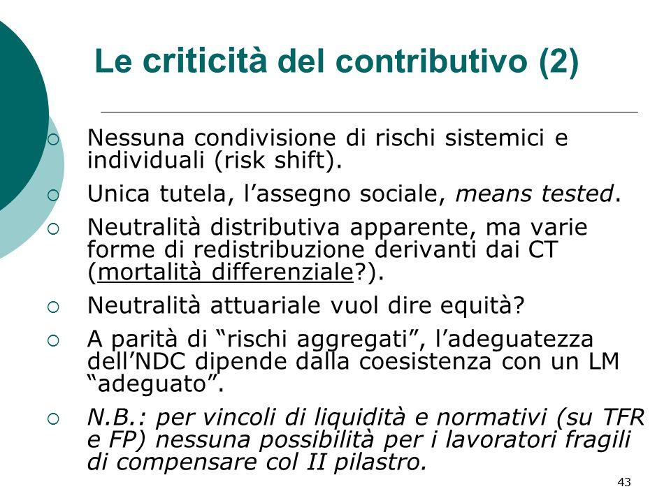 Le criticità del contributivo (2)