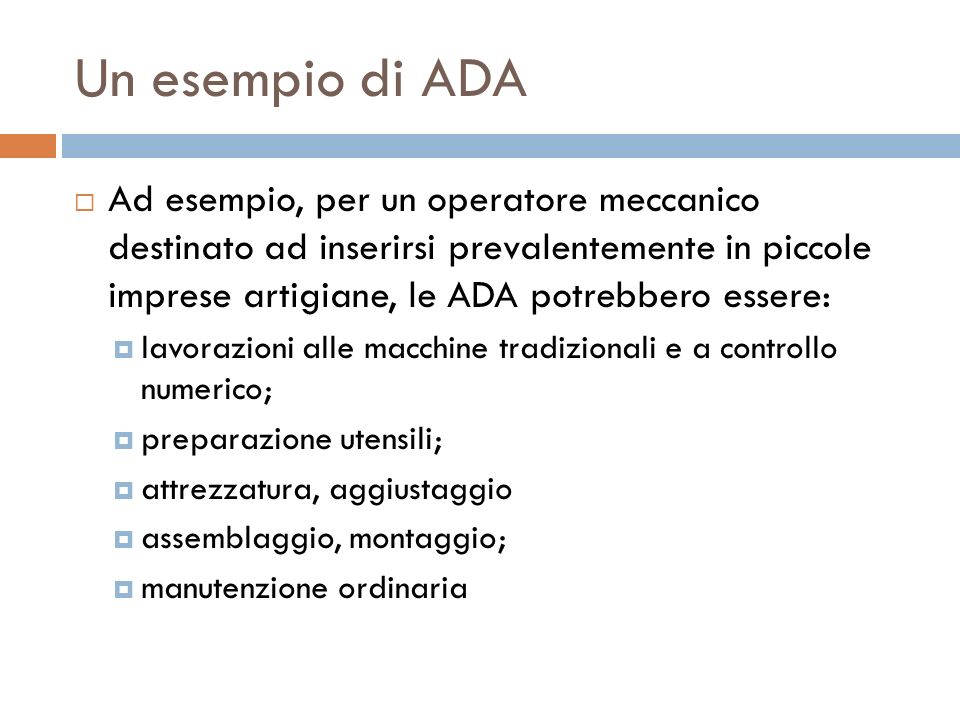 Un esempio di ADA