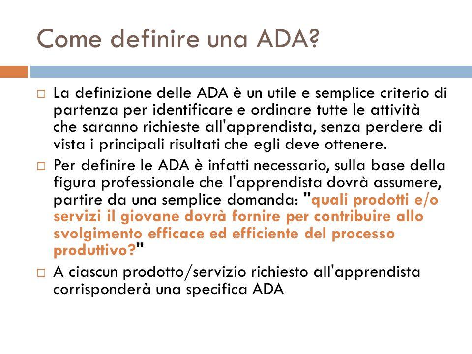 Come definire una ADA