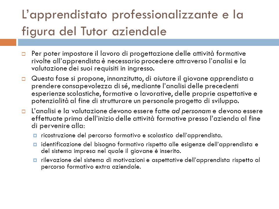 L'apprendistato professionalizzante e la figura del Tutor aziendale