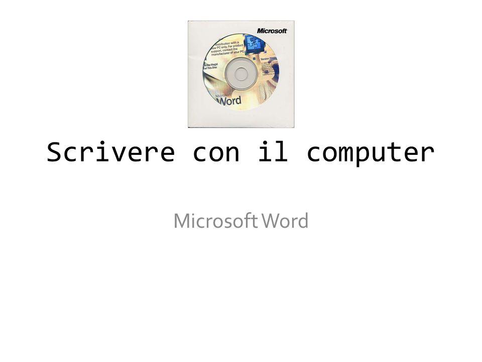 Scrivere con il computer