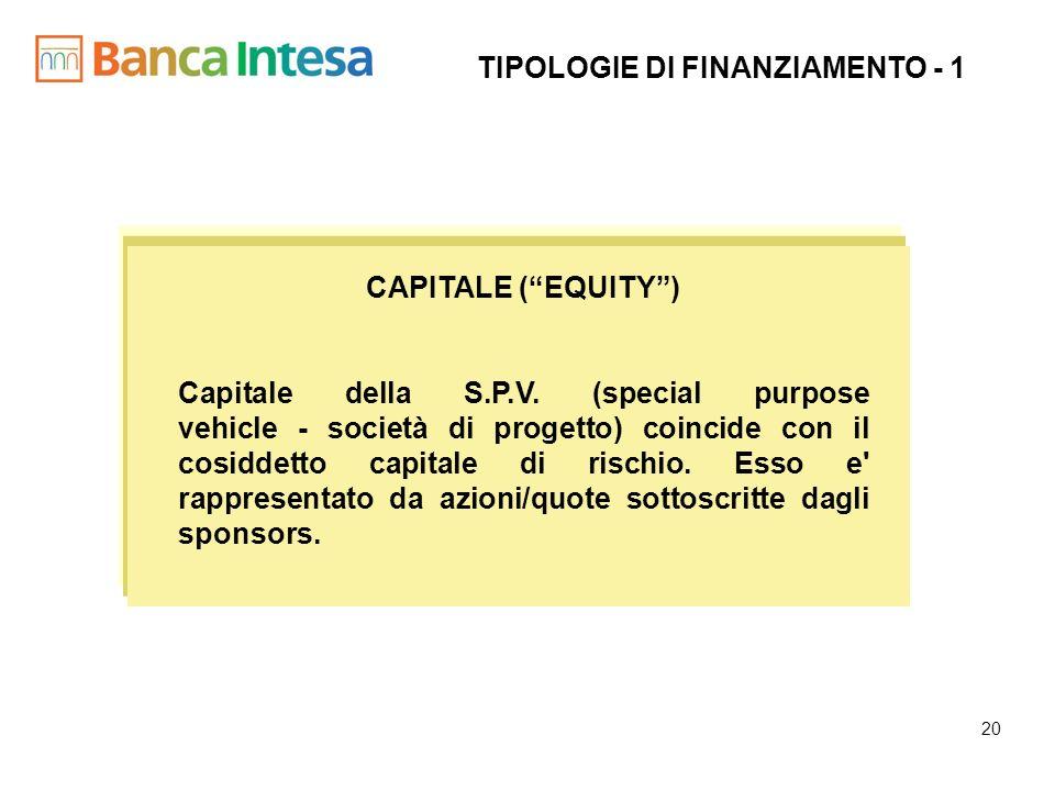 TIPOLOGIE DI FINANZIAMENTO - 1