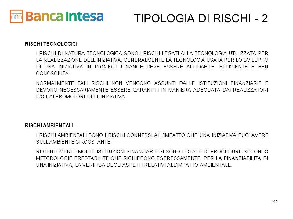 TIPOLOGIA DI RISCHI - 2 RISCHI TECNOLOGICI