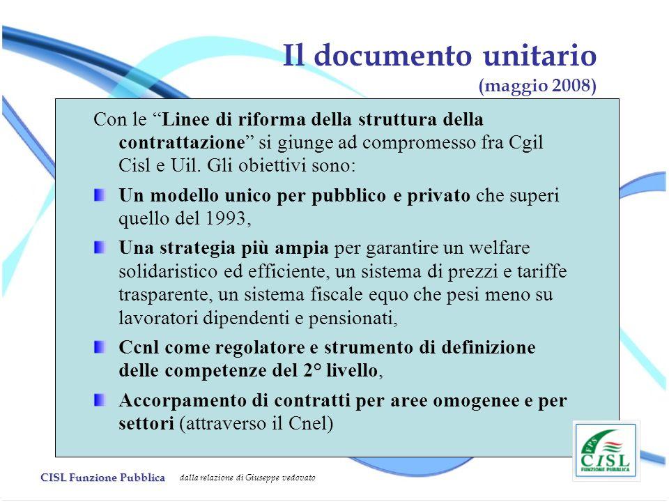 Il documento unitario (maggio 2008)
