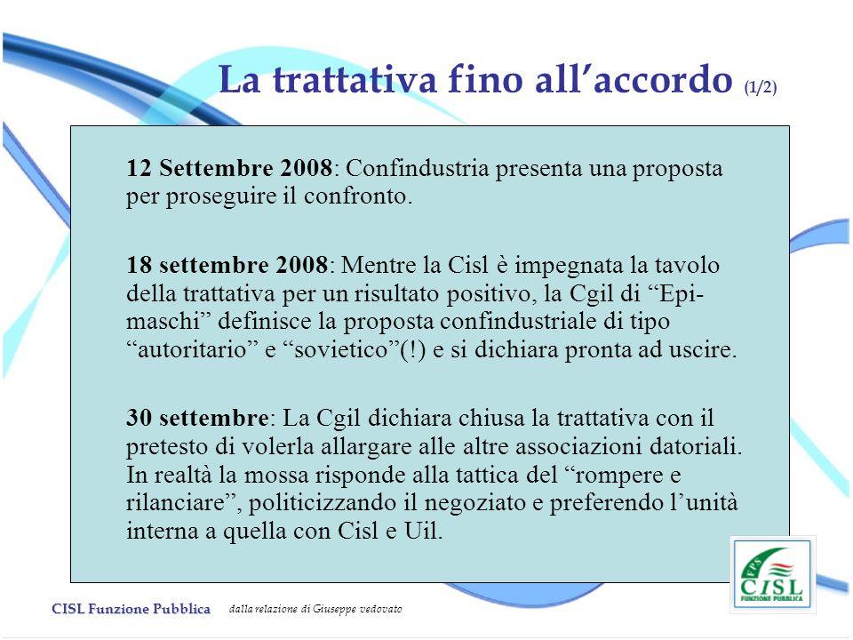 La trattativa fino all'accordo (1/2)