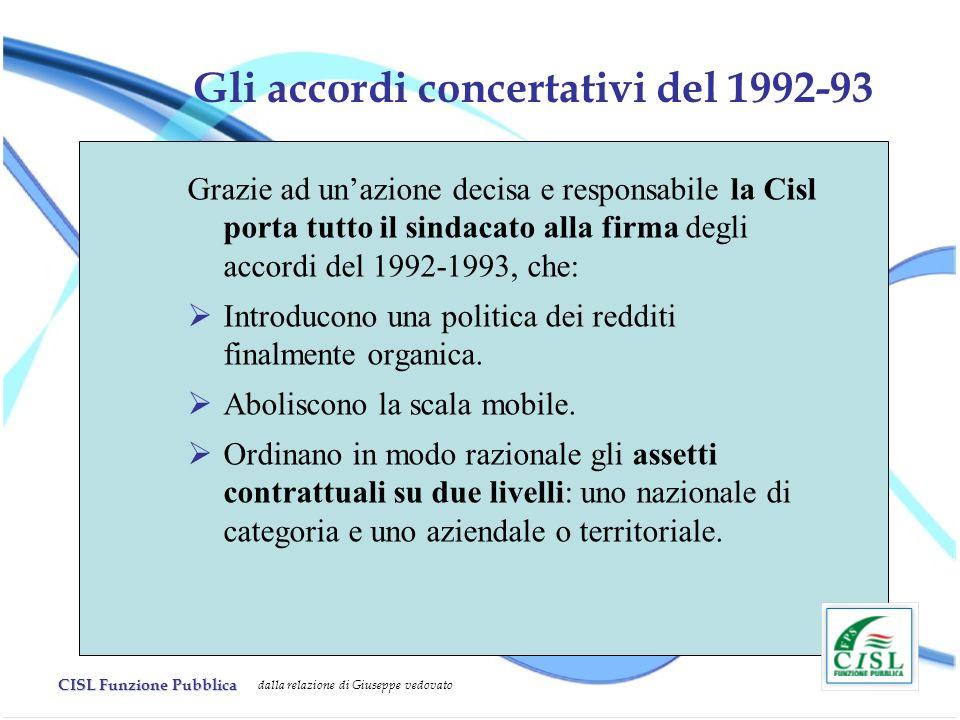 Gli accordi concertativi del 1992-93