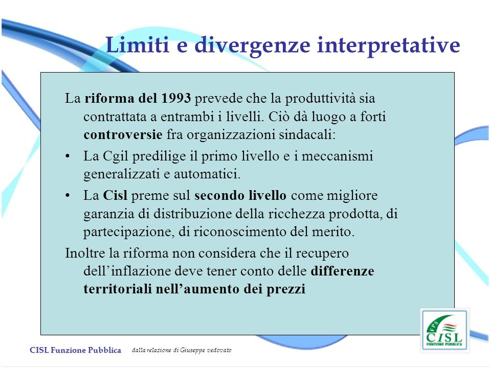 Limiti e divergenze interpretative