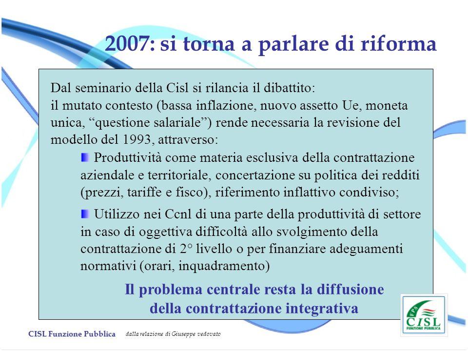 2007: si torna a parlare di riforma