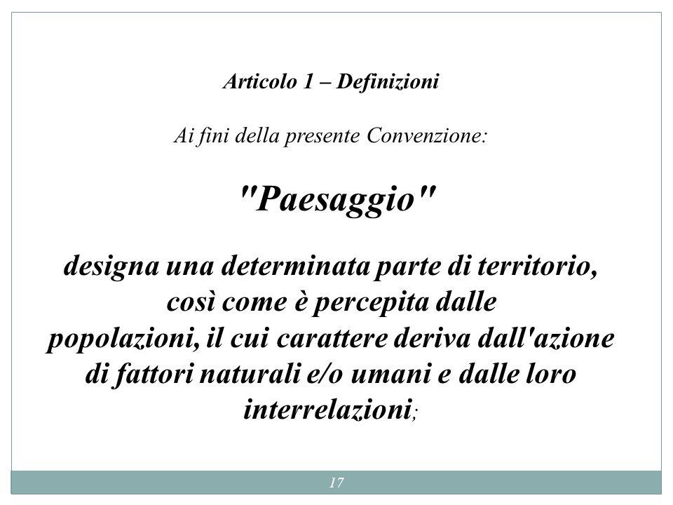 Articolo 1 – Definizioni