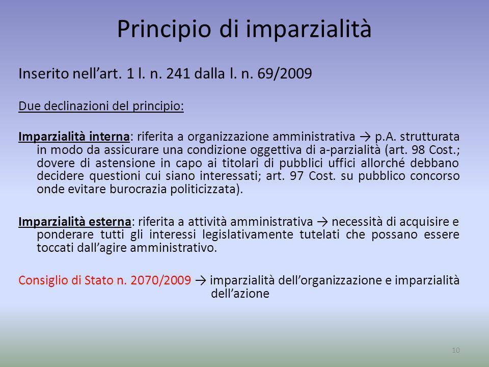 Principio di imparzialità