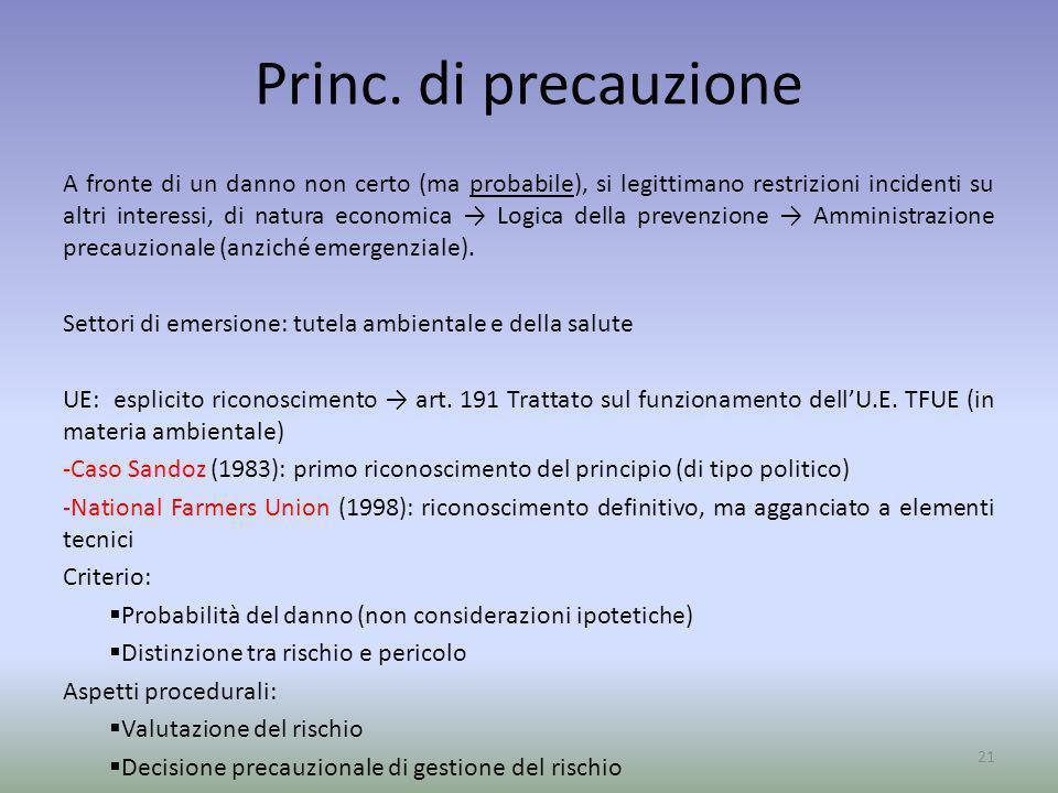 Princ. di precauzione