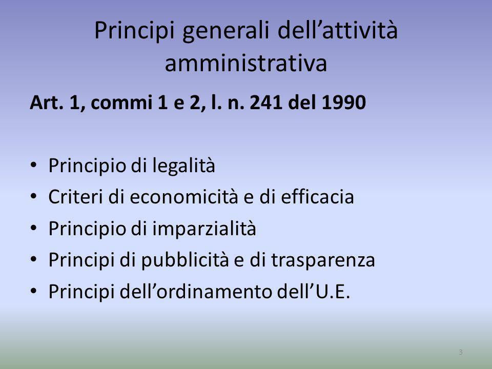 Principi generali dell'attività amministrativa