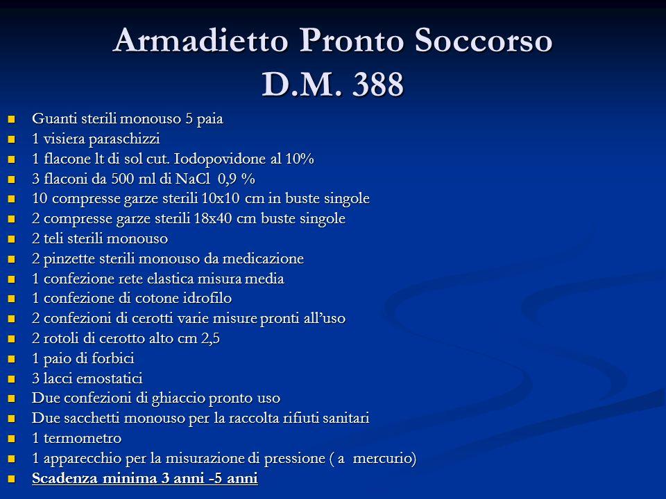 Armadietto Pronto Soccorso D.M. 388
