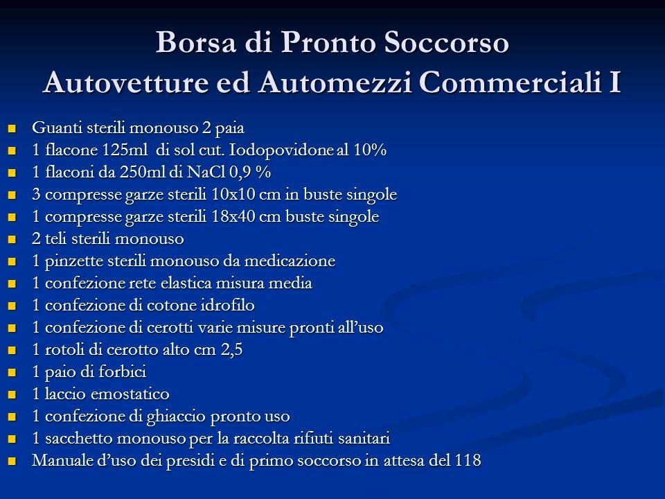 Borsa di Pronto Soccorso Autovetture ed Automezzi Commerciali I