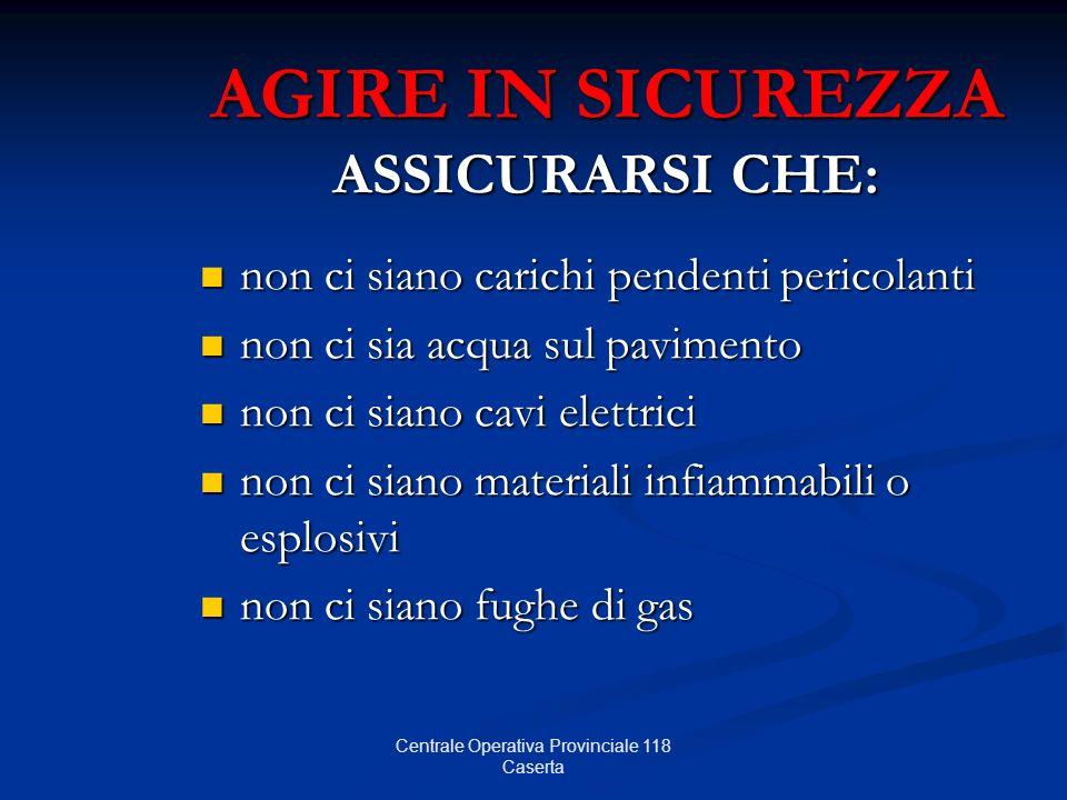 AGIRE IN SICUREZZA ASSICURARSI CHE: