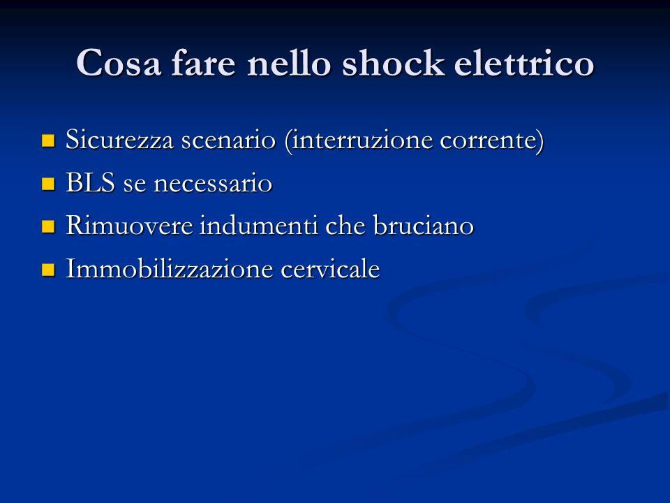 Cosa fare nello shock elettrico