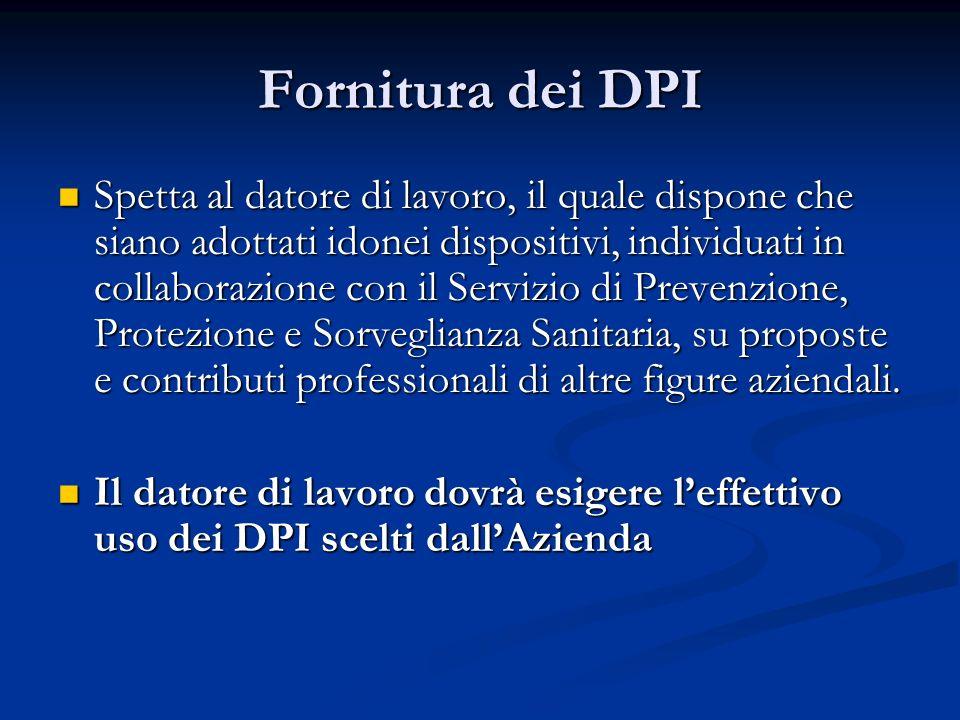 Fornitura dei DPI