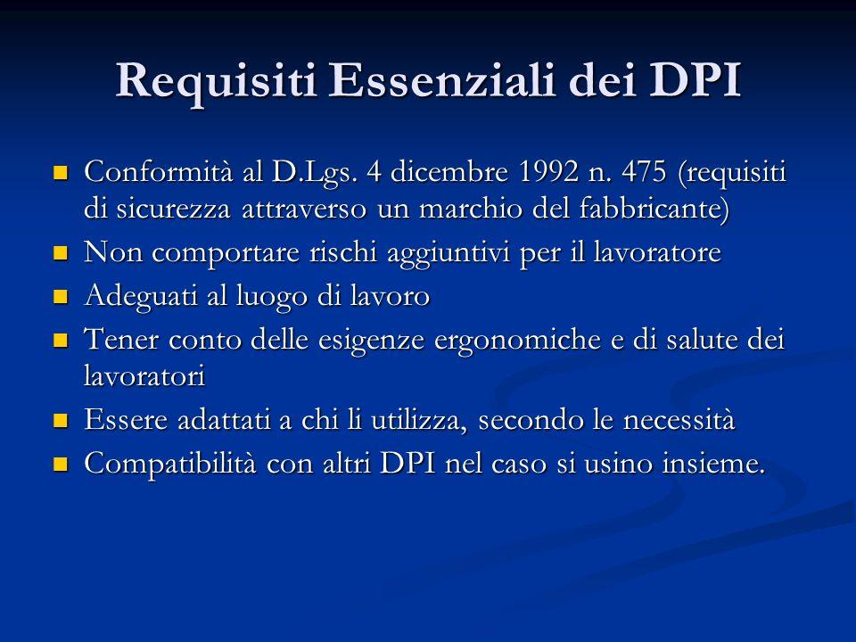 Requisiti Essenziali dei DPI