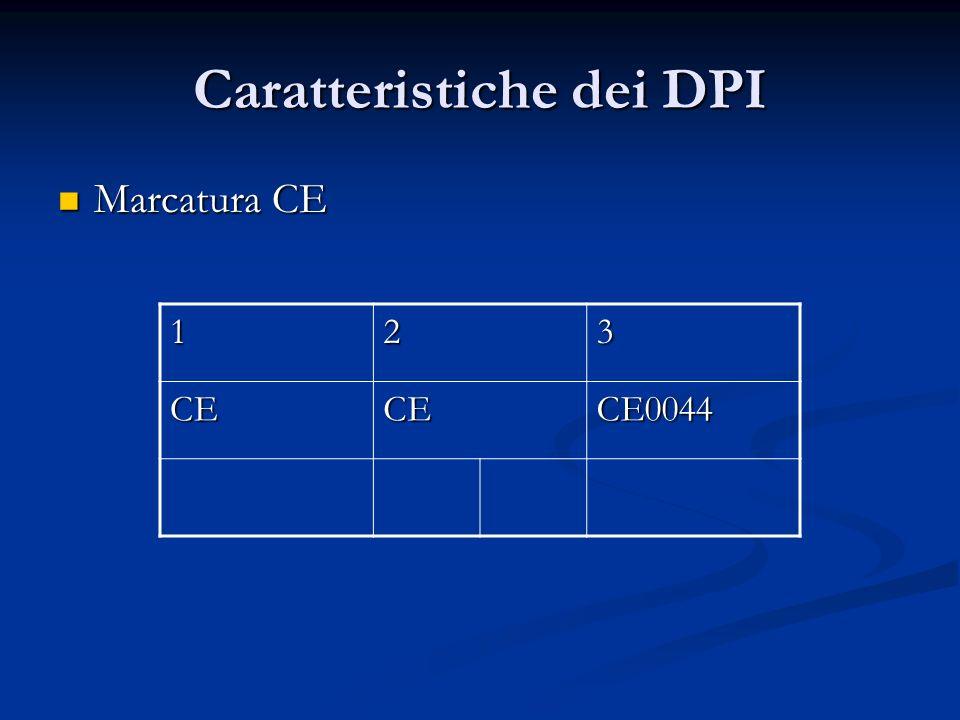 Caratteristiche dei DPI