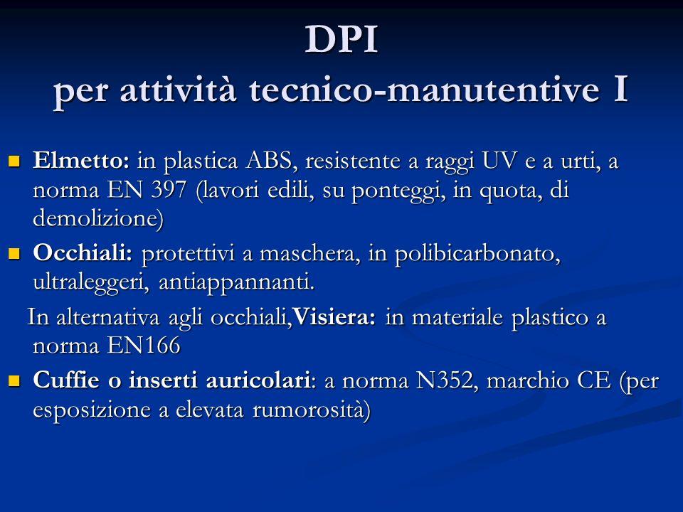 DPI per attività tecnico-manutentive I