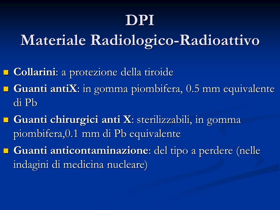 DPI Materiale Radiologico-Radioattivo