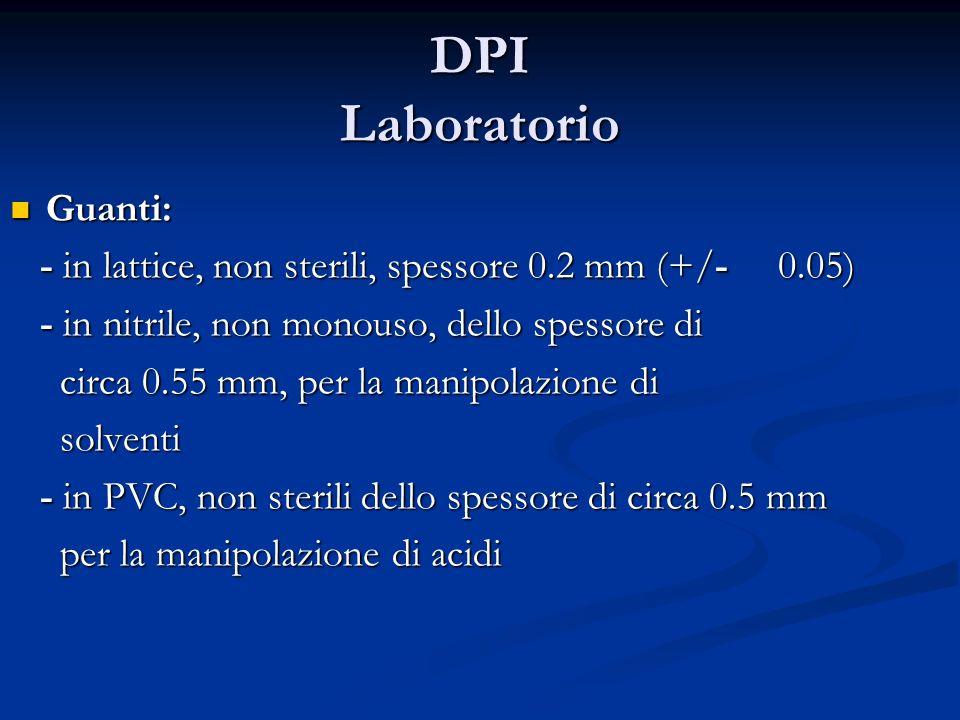 DPI Laboratorio Guanti: