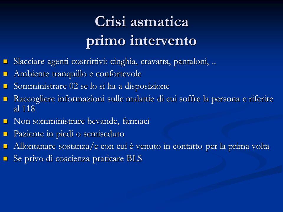 Crisi asmatica primo intervento