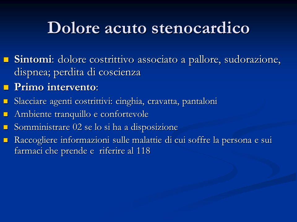 Dolore acuto stenocardico