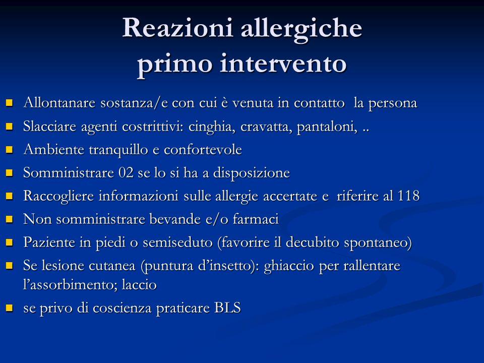 Reazioni allergiche primo intervento
