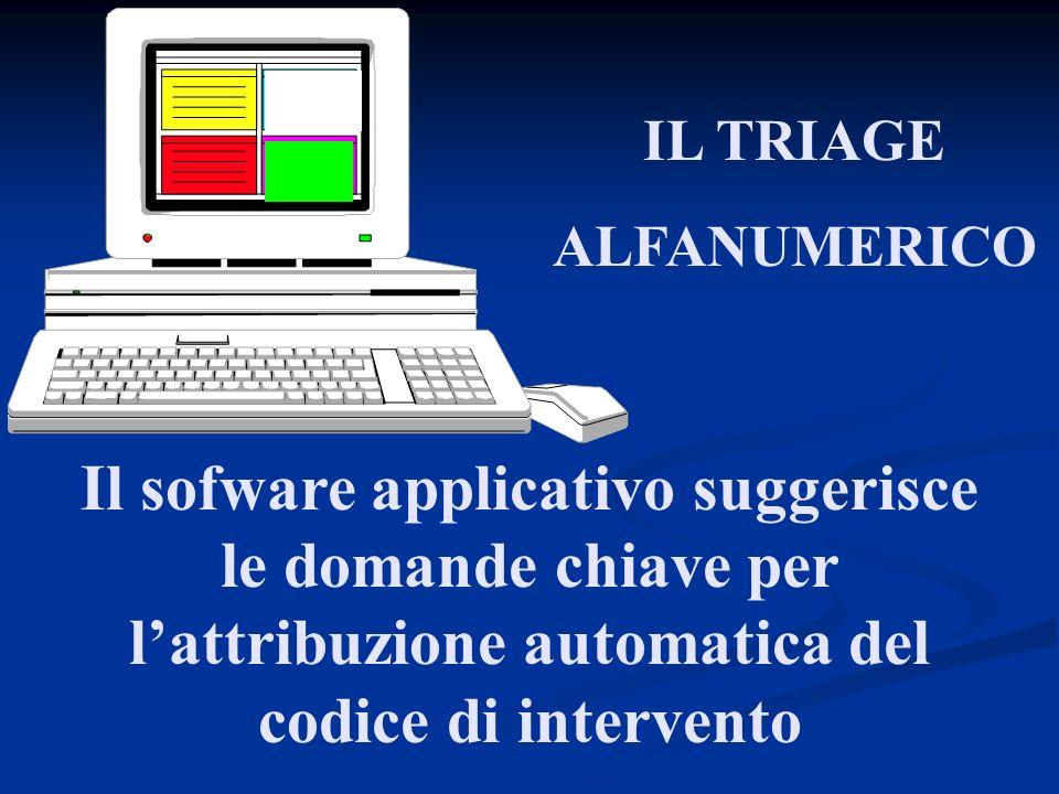 IL TRIAGE ALFANUMERICO.