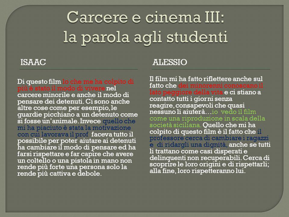 Carcere e cinema III: la parola agli studenti