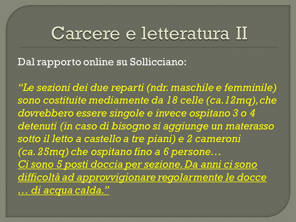 Carcere e letteratura II