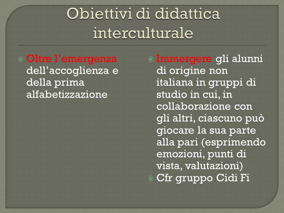 Obiettivi di didattica interculturale