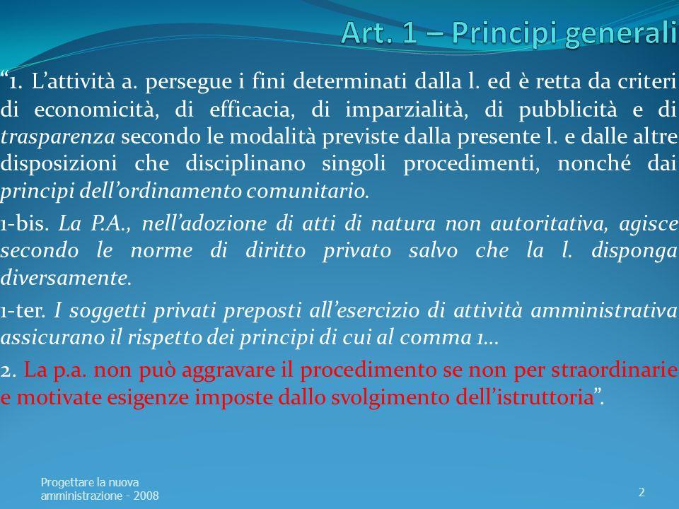 Art. 1 – Principi generali