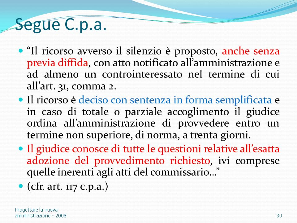 Segue C.p.a.