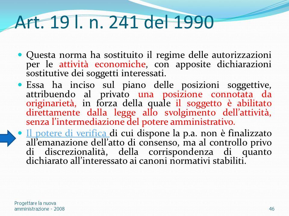 Art. 19 l. n. 241 del 1990