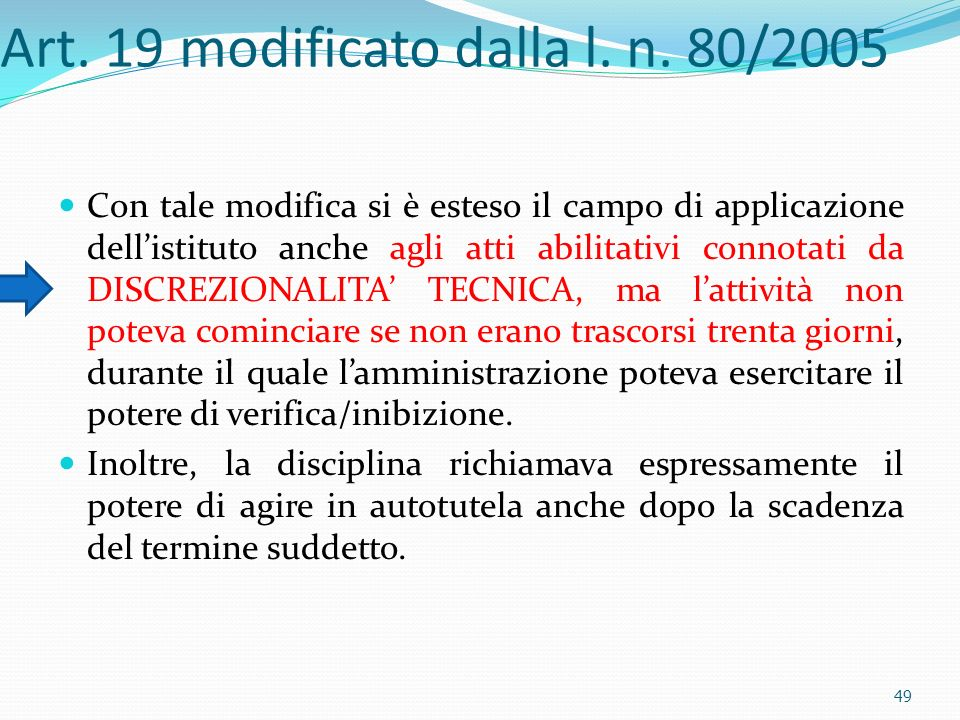Art. 19 modificato dalla l. n. 80/2005