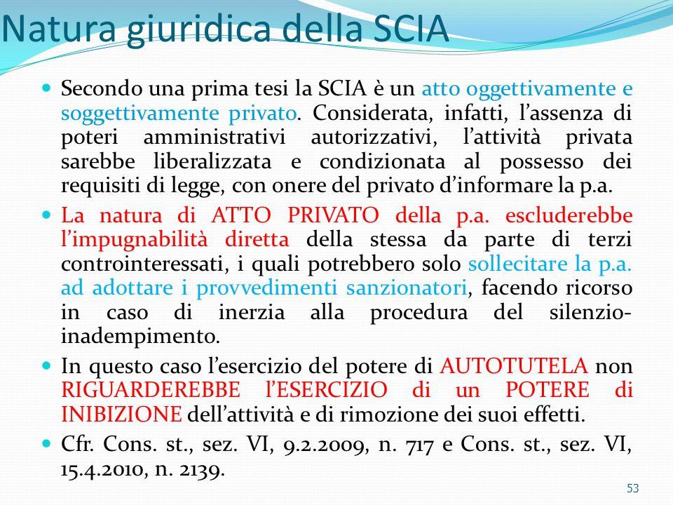 Natura giuridica della SCIA